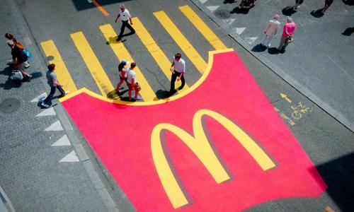 McDonald's fries crosswalk